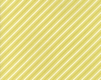 Ella & Ollie - Light Green Ticking Stripe Fabric - Fig Tree and Co