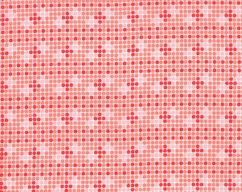 Coledale Fabric - Coral Tiles Fabric - Franny & Jane - Moda Fabric - Geometric Fabric - Modern Fabric - Sold by the Yard