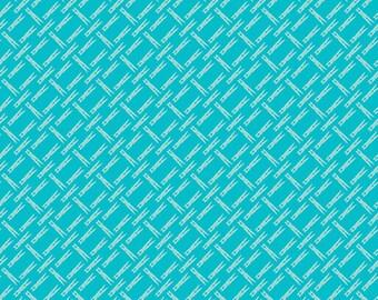 Aqua Clothespins Fabric - Vintage Happy 2 - Lori Holt
