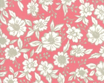 Pink Faded Floral Fabric - Bloomington - Lella Boutique - Moda Fabrics -  Flower Fabric - Pink Fabric - Sold by the Yard