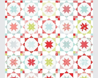 """Sugar Plums Quilt Pattern - Thimble Blossoms Pattern - Camille Roskelley - Bonnie and Camille - Layer Cake Pattern - 80"""" x 80"""" Quilt"""