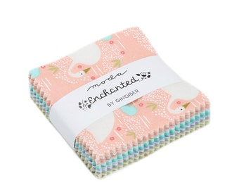 Enchanted Mini Charm Pack - Gingiber - Moda Fabric - Jelly Roll Fabric - 42 pieces