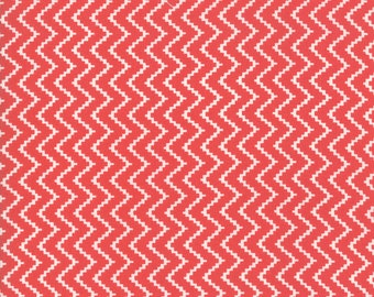 Pomegranate Zig Zag Fabric - Christmas Figs II Fabric - Fig Tree and Co - Moda Fabric - Holiday Fabric - Geometric Fabric - Sold by the Yard