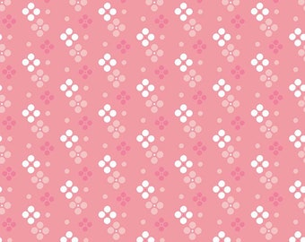 FAT QUARTER | In the Meadow Fabric - Pink Meadow Spot Fabric - Keera Job - Riley Blake Designs - Pink Fabric - Dot Fabric