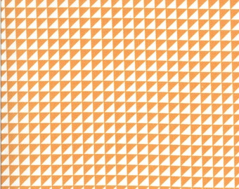 Orange HST Fabric - Shine On Fabric - Bonnie and Camille - Moda Fabric - Half Square Triangle Fabric - Geometric Fabric - Sold by the Yard