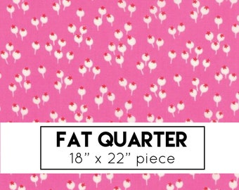 FAT QUARTER | Lazy Days Fabric - Pink Berries Fabric - Gina Martin - Moda Fabric - Floral Fabric - Pink Fabric