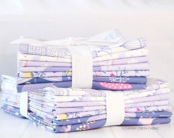 Once Upon A Time Purple Half Yard Bundle - Stacy Iest Hsu - Moda Fabric - Princess Fabric - Fat Quarter Fabric - 7 pieces