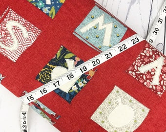 Biscuits &  Gravy Fabric - Red Alphabet Letters Fabric - Basic Grey