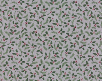Hearthside Holiday - Grey Winter Greenery Fabric - Deb Strain - Moda Fabric - Christmas Fabric - Holiday Fabric - Sold by the Yard