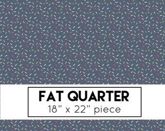 FAT QUARTER | Serendipity Fabric - Navy Sprinkles Fabric - Minki Kim - Riley Blake Designs - Geometric Fabric
