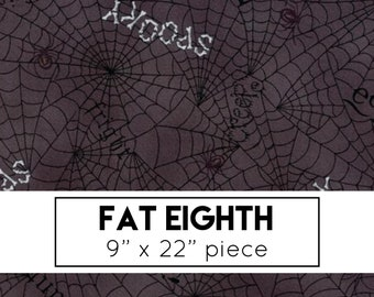 FAT EIGHTH | Dark Grey Spider Web Fabric - Bewitching Fabric - Deb Strain - Moda Fabric - Halloween Fabric - Spider Web Fabric