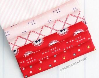 Simple Goodness Pink & Red Fat Quarter Bundle - Tasha Noel - Riley Blake Designs - Fabric Bundle - Red Fabric Bundle - 6 pieces