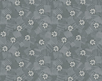 Gray Scribbled Floral Fabric - Meadow Lane Fabric - Sara Davies - Riley Blake Designs - Floral Fabric - Flower Fabric - Sold by the Yard