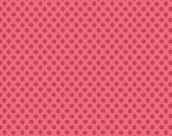 Pink Floral Needlepoint Fabric - Granny Chic - Lori Holt - Riley Blake Designs - Flower Fabric - Floral Fabric - Sold by the Yard