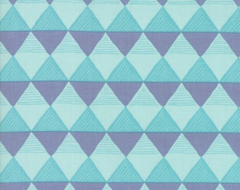 Twilight Fabric - Mist Triangles Fabric - One Canoe Two