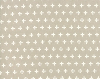 Orchard Fabric - Tan Apple Seed Fabric - April Rosenthal - Moda Fabric - Geometric Fabric - Floral Fabric - Sold by the Yard