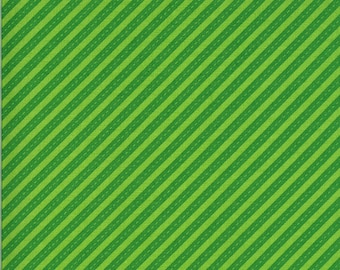 Green Bias Stripes Fabric - On the Go - Stacy Iest Hsu - Moda Fabrics - Transportation Fabric - Airplane Fabric - Sold by the Yard