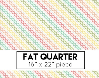 FAT QUARTER | Strawberry Jam Fabric - Multi Summer Stripe Fabric - Corey Yoder - Moda Fabric - Stripe Fabric - Binding Fabric