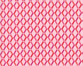Rosa Fabric - Pink Floral Weave Fabric - Crystal Manning - Moda Fabric - Geometric Fabric - Weave Fabric - Sold by the Yard