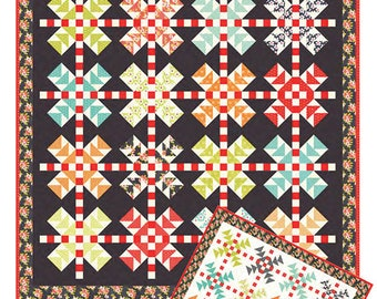 """Cobblestones Quilt Pattern - Figtree and Co - 73"""" x 73"""" Quilt"""