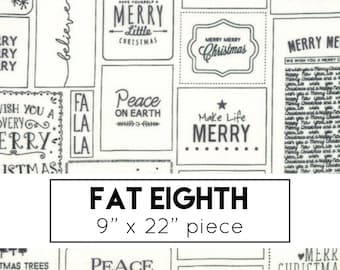 FAT EIGHTH | The Christmas Card Fabric - Black Christmas Cards Fabric - Sweetwater - Moda Fabrics - Holiday Fabric