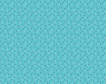 Turquoise Ring Toss Fabric - Vintage Happy 2 - Lori Holt