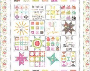 "Sunnyside Up Quilt Kit - Corey Yoder - Moda Fabrics - Moda Kit - Quilt Kit - 57"" x 69"""