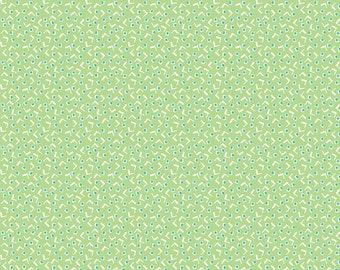 Green Vintage Tiny Squares Fabric - Vintage Happy 2 - Lori Holt