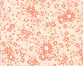 Sunnyside Up Fabric - Peach Floral Meadow Fabric - Corey Yoder - Moda Fabrics - Floral Fabric - Flower Fabric - Sold by the Yard