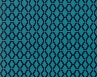 Rosa Fabric - Turquoise Floral Weave Fabric - Crystal Manning - Moda Fabric - Geometric Fabric - Weave Fabric - Sold by the Yard