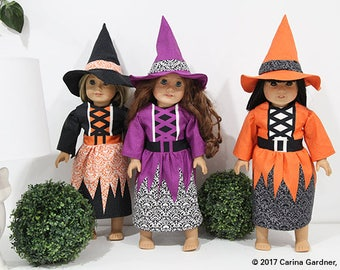 Doll Halloween Costume - Black Witch Doll Costume