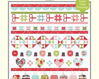 """Quilt Day Quilt Pattern - Cotton Way Pattern - Bonnie Olaveson - Bonnie and Camille - Layer Cake Pattern - 43"""" x 48"""" Quilt"""