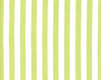 Green Stripe Woven Fabric - Bonnie and Camille Wovens - Moda Fabric - Stripe Binding Fabric - Woven Fabric - Sold by the Yard