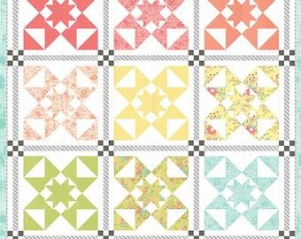 """Hello Friend Quilt Pattern - Corey Yoder - Moda Fabrics - Fat Quarter Pattern - Quilt Pattern - 54"""" x 71"""" quilt"""