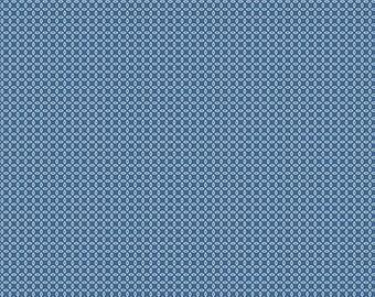 Navy Orange Peel Fabric - Vintage Happy 2 - Lori Holt