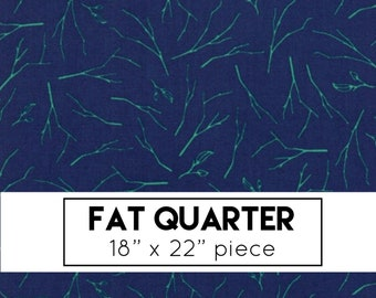 FAT QUARTER | Woodland Secrets Fabric - Navy Branches Fabric - Shannon Gillman Orr - Moda Fabric - Floral Fabric - Flower Fabric