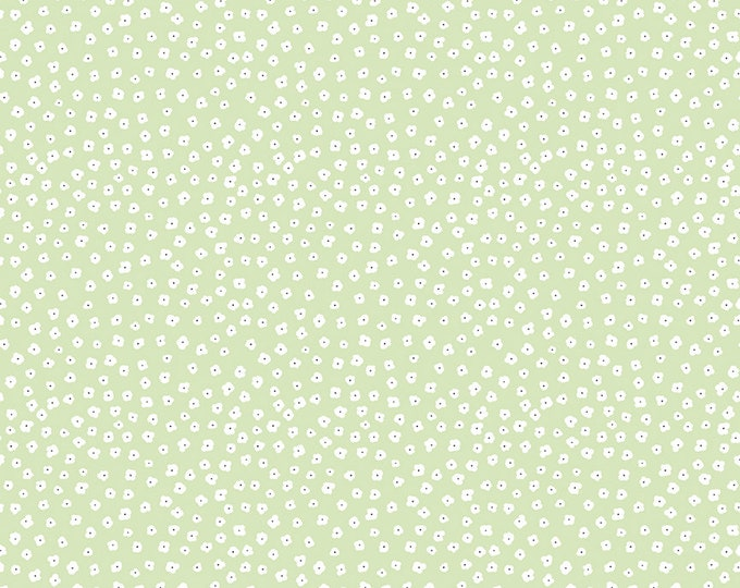 Featured listing image: Fat Quarter - Date Night Fabric - Green Sweet Nothings Fabric - Fabric Mutt - Riley Blake Designs - Floral Fabric - Sold by the Yard