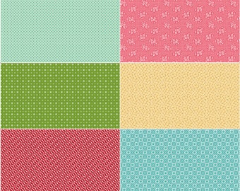 Scrappy Panel Fabric - Granny Chic - Lori Holt - Riley Blake Designs - Flower Fabric - Geometric Fabric - Sold by the Yard