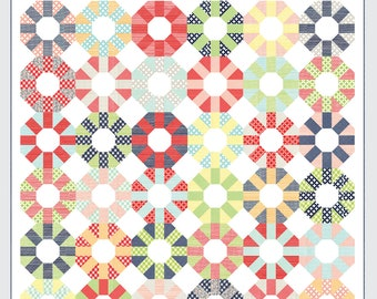 """Colorway Quilt Pattern - Thimble Blossoms Pattern - Camille Roskelley - Bonnie and Camille - Layer Cake Pattern - 76"""" x 76"""" Quilt"""