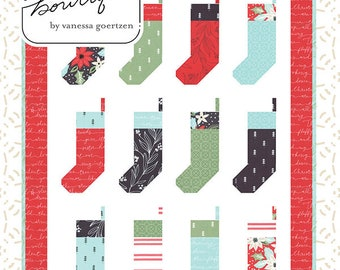 """By the Chimeny Mini Quilt Pattern - Lella Boutique - Moda Fabrics - Christmsa Quilt Pattern - Scrap Quilt Pattern - 32"""" x 43.25"""" Quilt"""