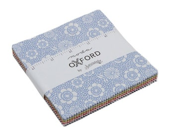Oxford Prints Charm Pack Fabric - Sweetwater - Moda Fabric - Plaid Fabric - Gingham Fabric - Fabric Charm Pack - 42 pieces
