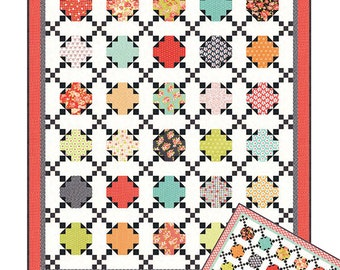 """Apple Pie Quilt Pattern - Figtree and Co - 60"""" x 70"""" Quilt"""
