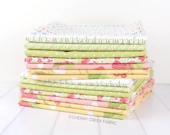 Strawberry Jam Yellow, Pink & Green Half Yard Bundle - Corey Yoder