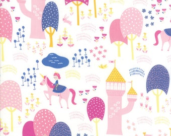 Fat Quarter | Once Upon A Time Fabric - White Palace Grounds Fabric - Stacy Iest Hsu - Moda Fabric - Princess Fabric - Castle Fabric