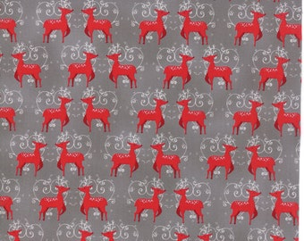 SALE | Sno Fabric - Grey Oh Deer Fabric - Northern Quilts - Moda Fabrics - Winter Fabric - Christmas Fabric - Sold by the Yard