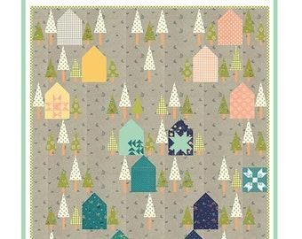 "Two Roads Quilt Pattern - Shannon Gillman Orr - Moda Fabric Pattern - Layer Cake Quilt Pattern - 58"" x 64"" Quilt"