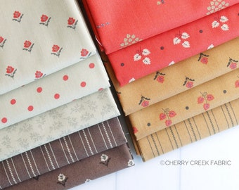 101 Maple Street Mini Fat Quarter Bundle - Bunny Hill Designs - Moda Fabric - Fall Fabric - Autumn Fabric - 10 pieces
