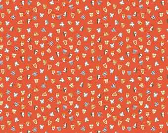 SALE | Lancelot - Red Shields Fabric - Citrus & Mint - Riley Blake Designs - Red Fabric - Shield Fabric - Sold by the Yard