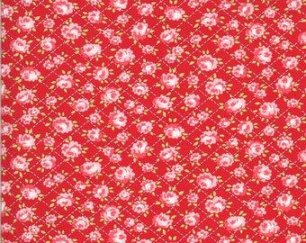 Red Roses Fabric - Shine On Fabric - Bonnie and Camille - Moda Fabric - Flower Fabric - Floral Fabric - Sold by the Yard