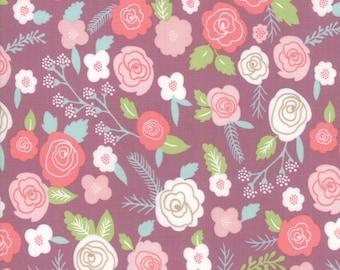 Lollipop Garden Fabric - Purple Springtime Blooms Fabric - Lella Boutique